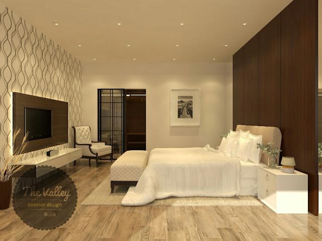 Desain Interior Kamar Tidur Rumah Mewah  - The Valley Interior Design