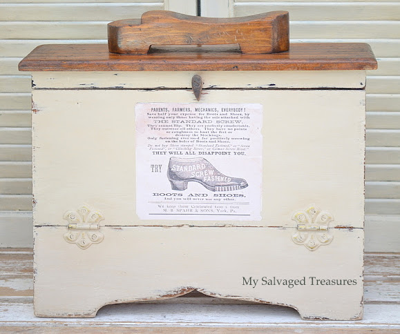 how to update an old shoe shine box