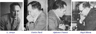L. Arroyo, Enrico Paoli, Alphonse Franck y Ángel Ribera