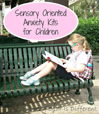 Sensory oriented anxiety kits for kids.