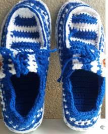 Sapato de crochê adulto