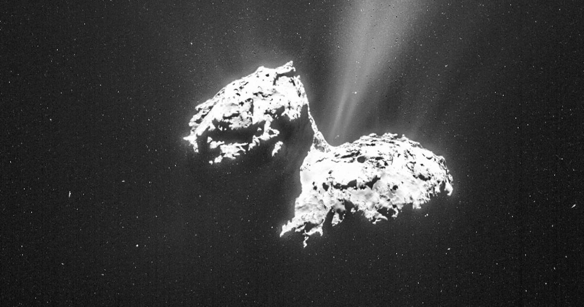 Metamorfosis en el cometa Churyumov-Gerasimenko revela por primera vez su núcleo