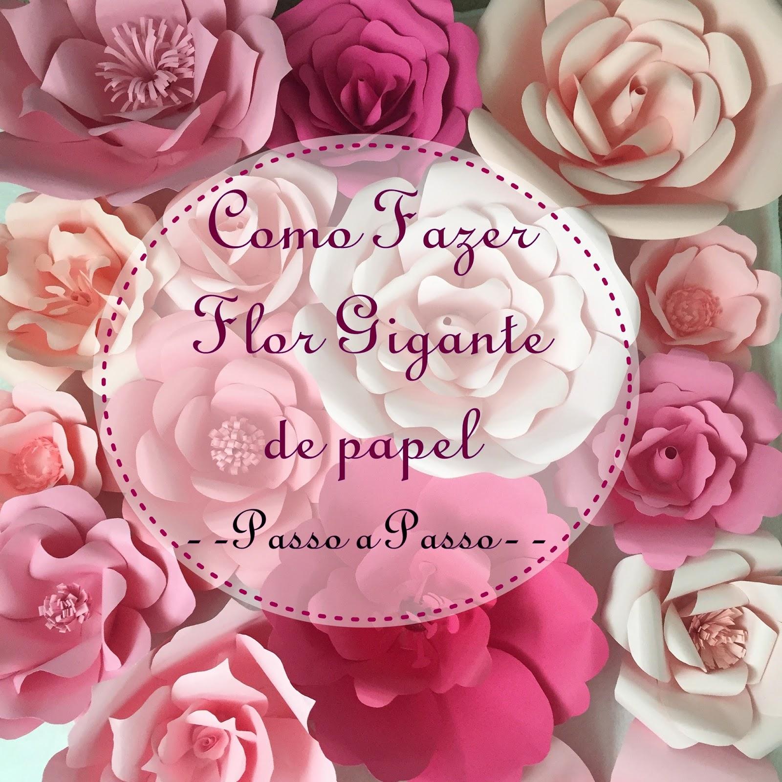 Como Fazer Flor Gigante De Papel Passo A Passo D Mimos E