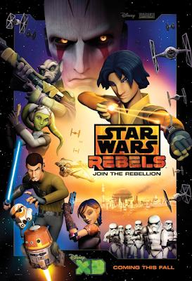 gwiezdne wojny rebelianci serial recenzja plakat ezra kanan hera
