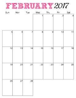 2017 vertical calendar to print