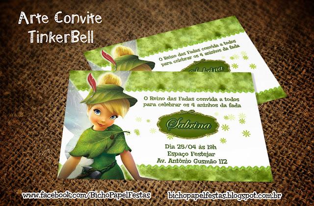 Convite Sininho TinkerBell