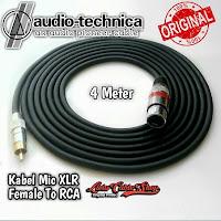 Kabel Mic XLR Female To RCA 4 Meter Kabel Audio Technica