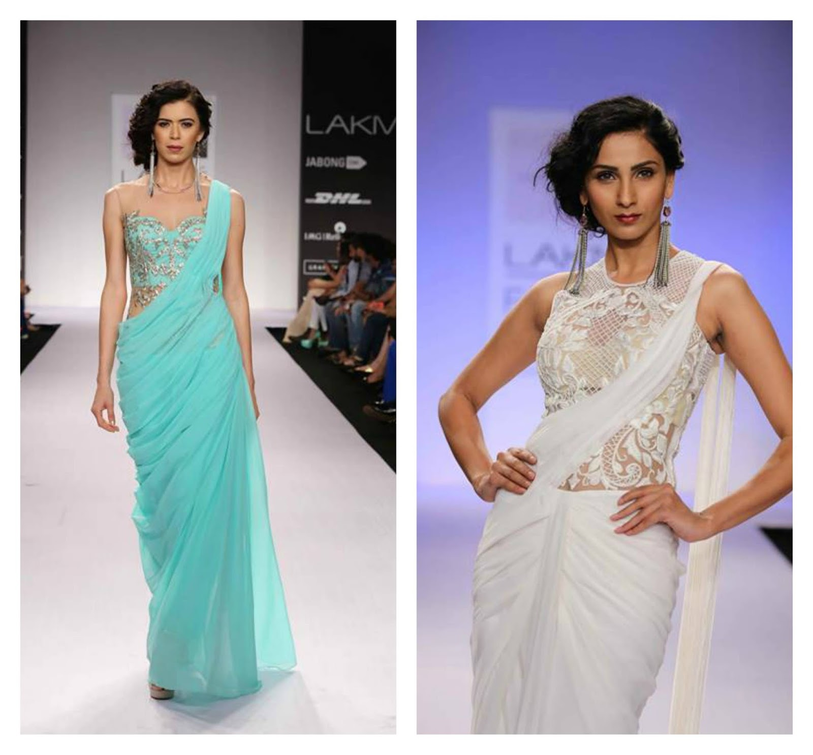 designer saree 2014 lakme fashion week