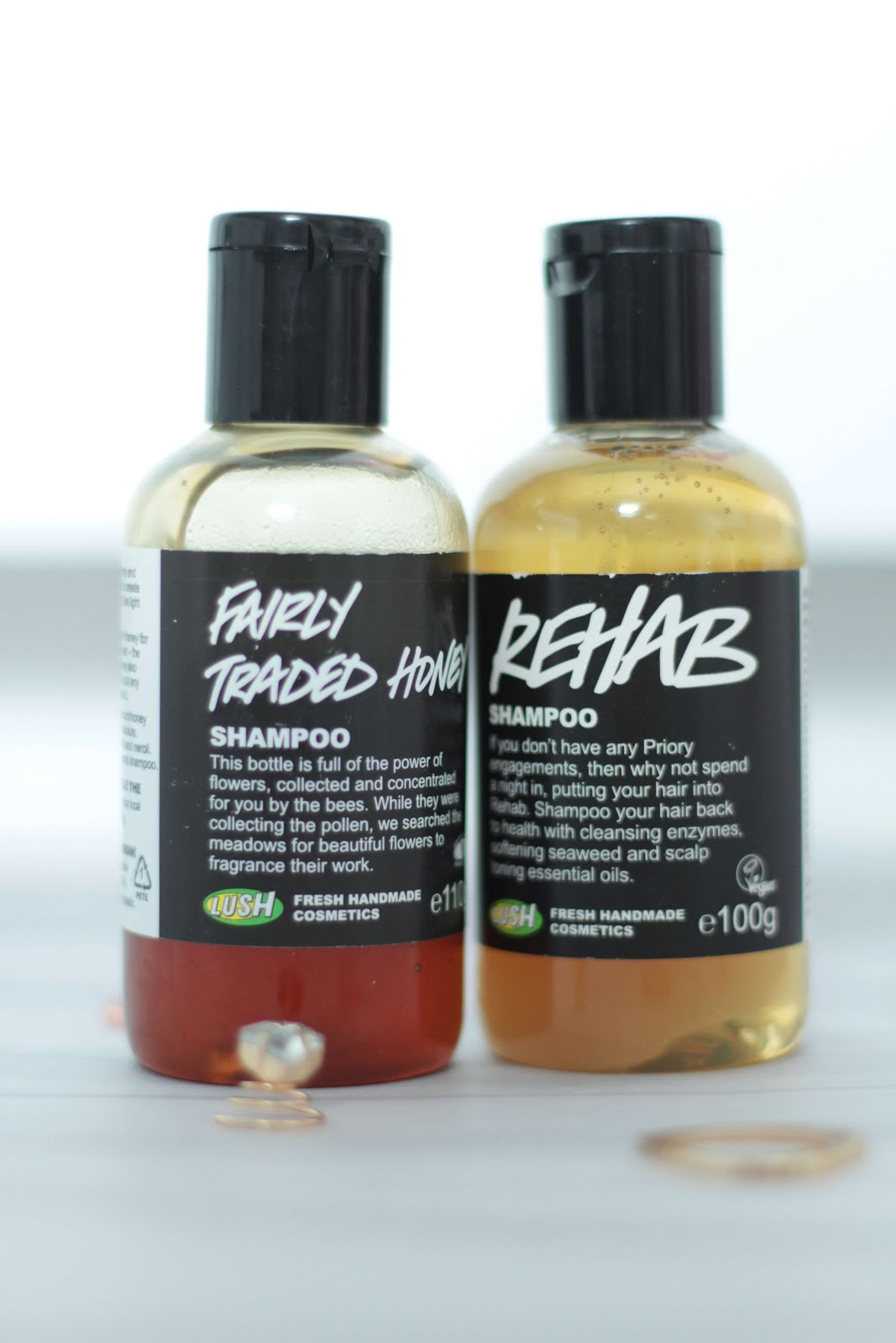 Lush rehab and fairly traded honey shampoo review