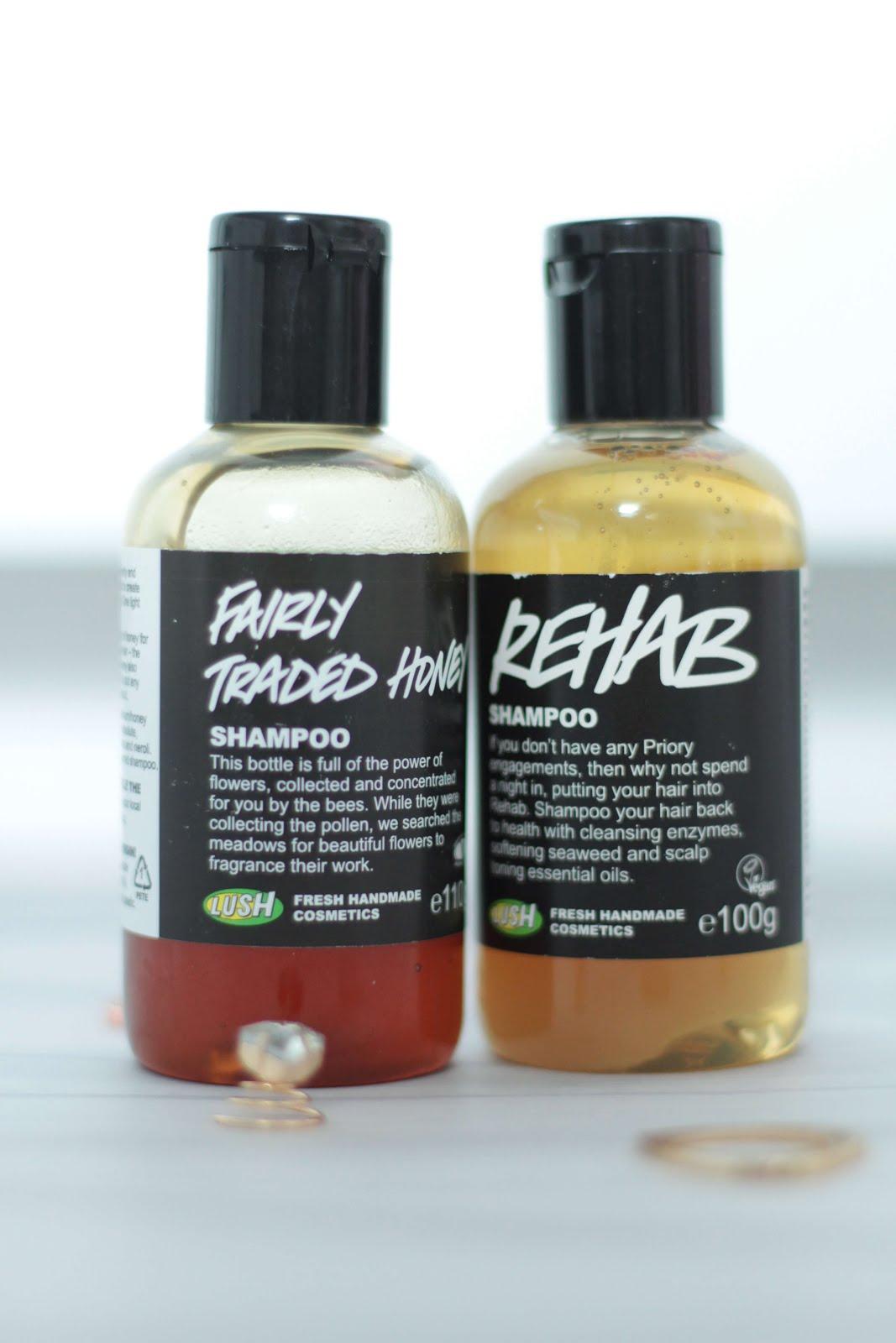 Lush rehab and fairly traded honey shampoo review