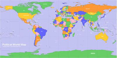 vector mapa mundi politico