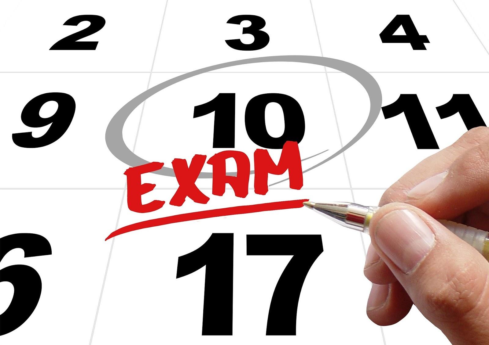 Fechas de exámenes de recuperación de septiembre 2018