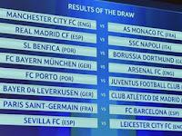 Hasil Undian Babak 16 Besar Liga Champions 2017
