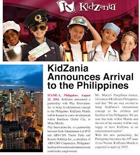 Kidzania Manila Theme Park