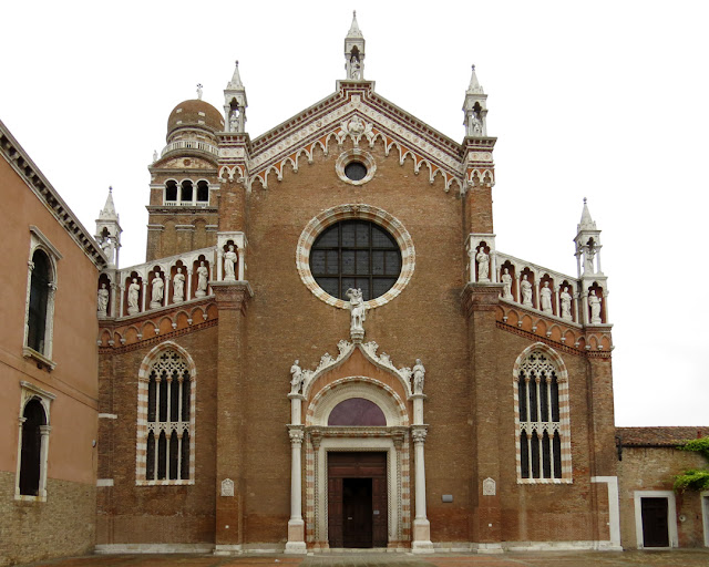 Façade of the church of the Madonna dell'Orto, Campo della Madonna dell'Orto, Cannaregio, Venice