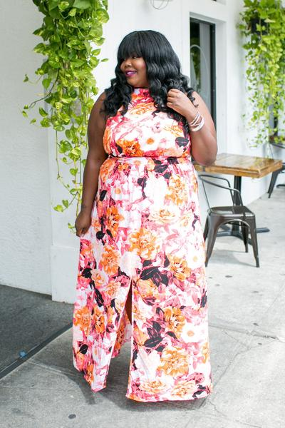 Abstract Floral Maxi Dress Curves on a Budget for Society +