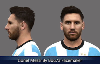 Lionel Messi PES 2016 By Bou7a Facemaker
