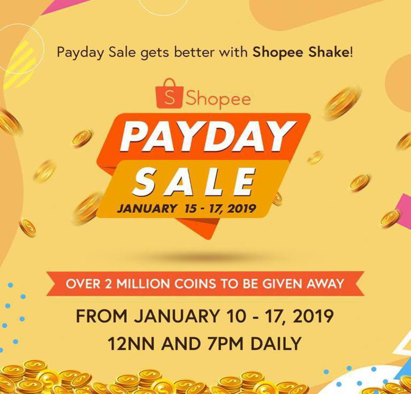 Shopee Announces Payday Sale On January 15 To 17