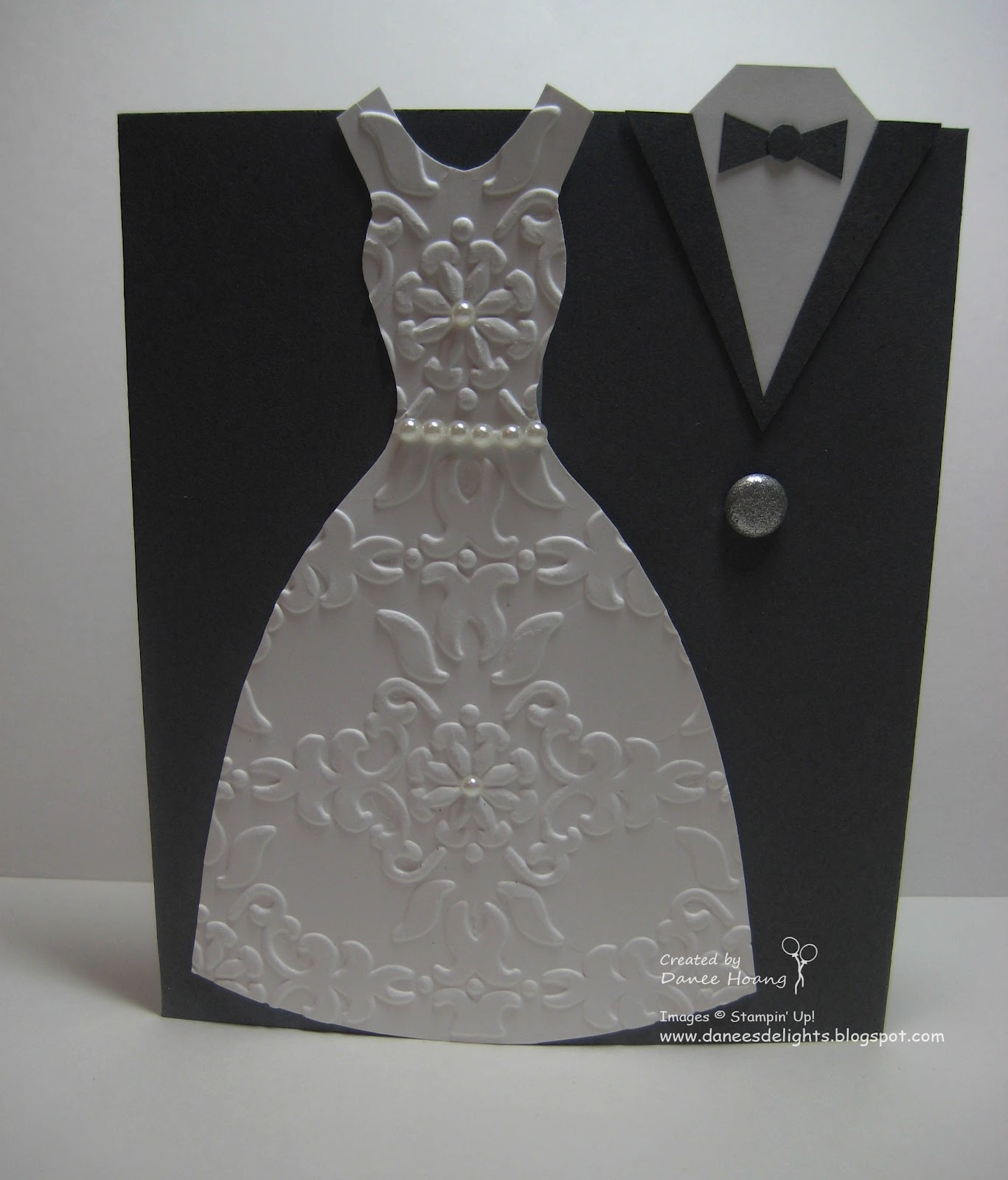Bride And Groom Only Wedding Ideas: Danee's Stampin' Delights: Bride And Groom Wedding Card