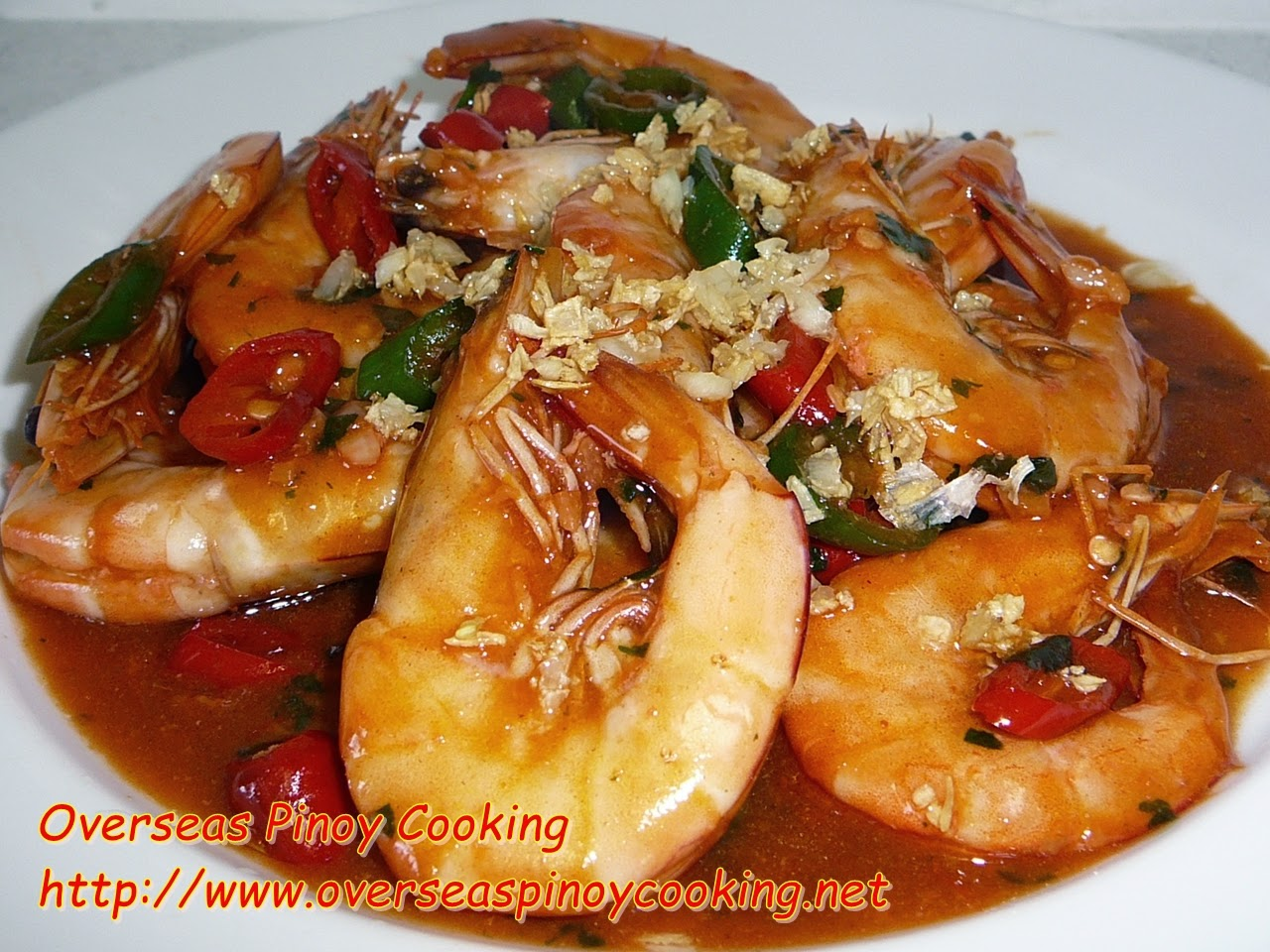 Prawn in Sweet and Spicy Sauce