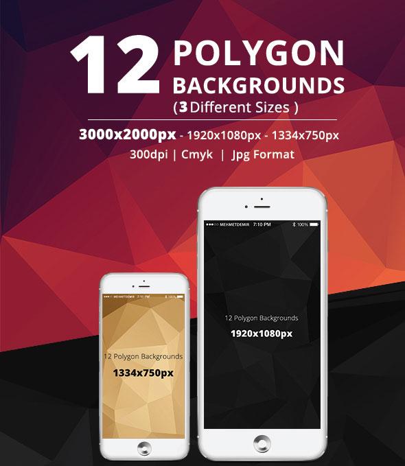 12 FREE Polygon Bacgrounds