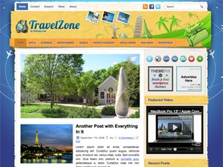 Free Travel and Holiday WordPress Theme - TravelZone