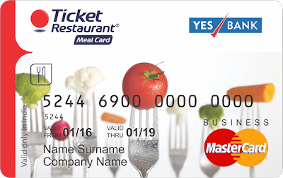 Ticket Restaurant Meal Card