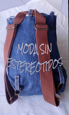 denim bag; mochila multiposiciones