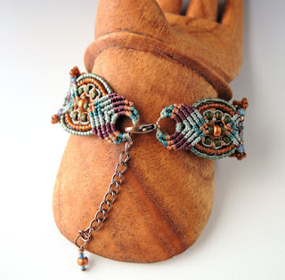 Back of the micro macrame bracelet.
