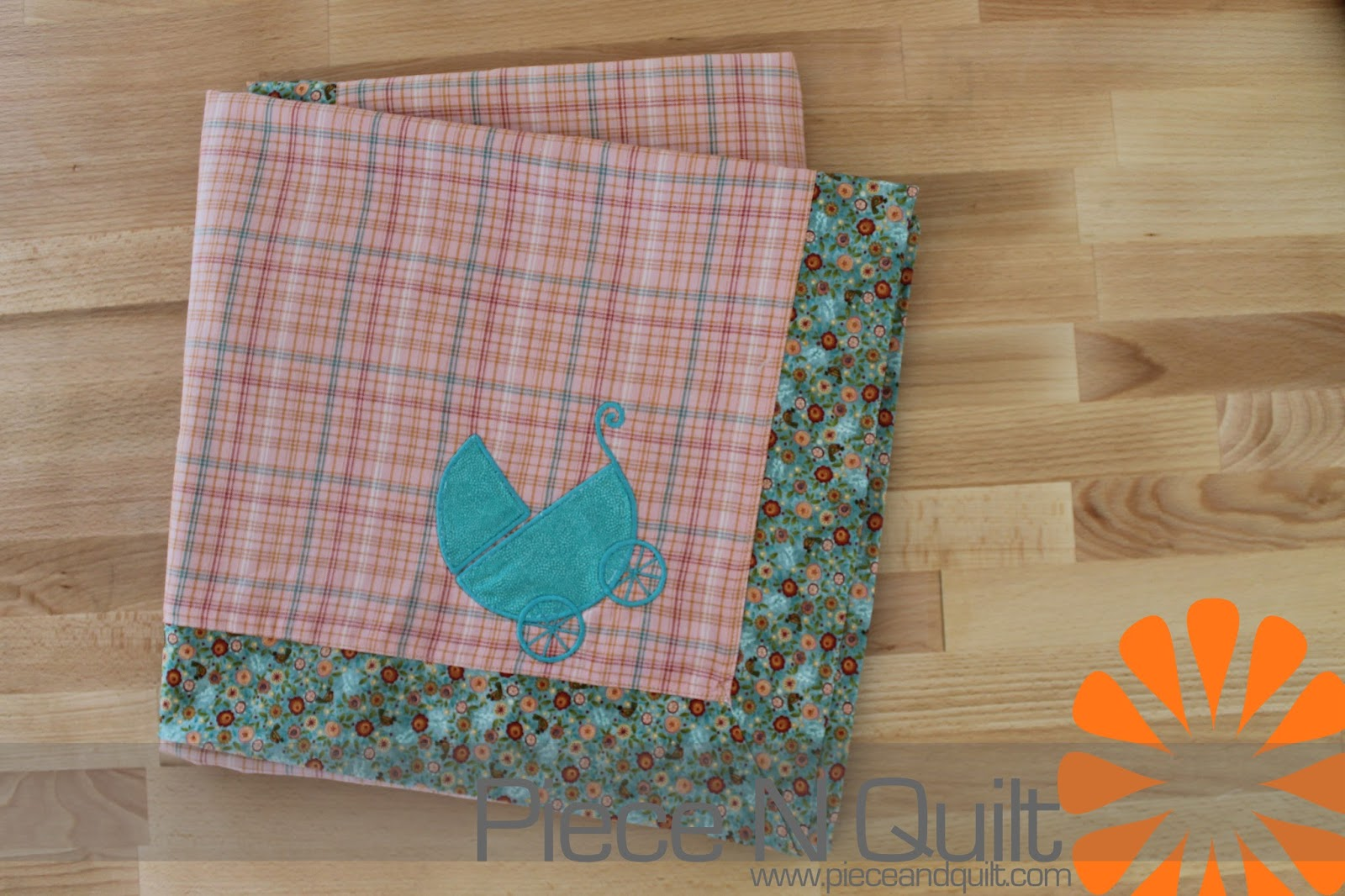 Piece N Quilt: Self-Binding Receiving Baby Blankets