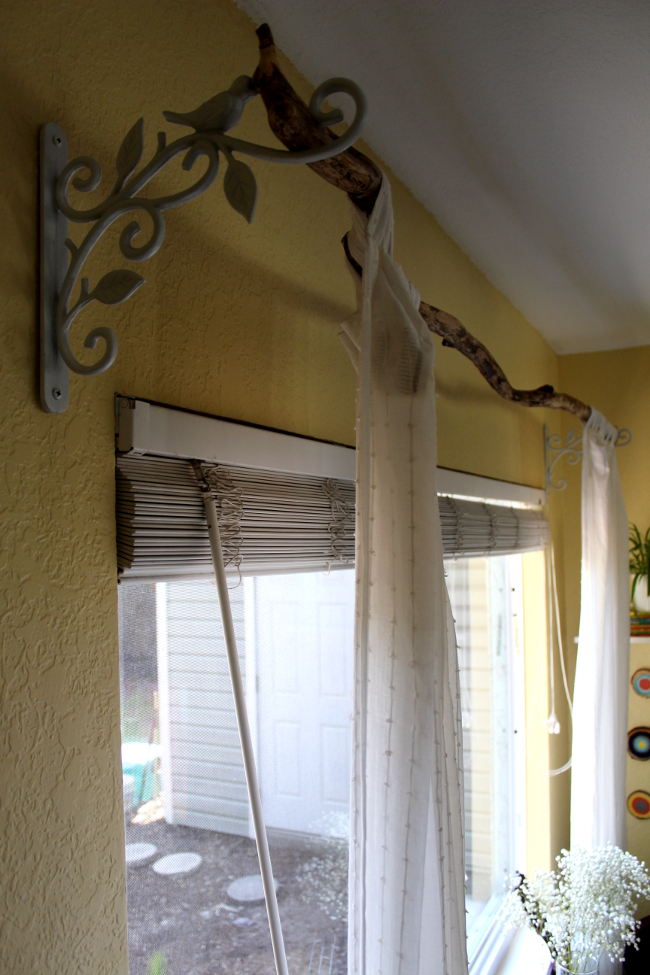Nice Tree Branch Curtain Rod
