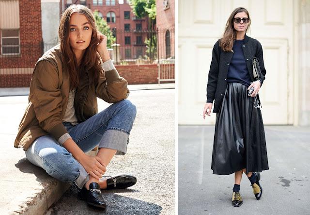 Ботинки в мужском стиле с джинсами и юбкой