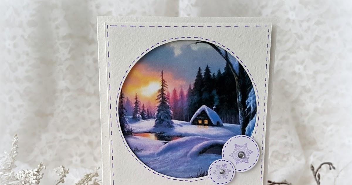 Днем рождения, галерея зимних открыток