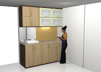 Interior Dapur Set - Pantry Dapur Kering Dry Kitchen