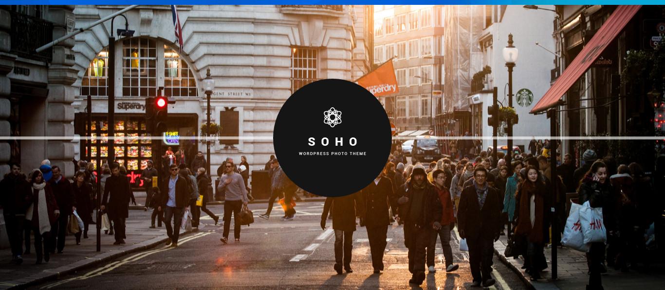 Soho WordPress portfolio video Theme