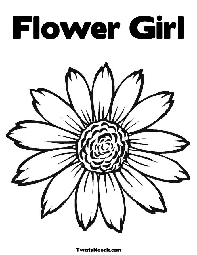 Coloring Pages Flower Girl Flower Girl Coloring Pages