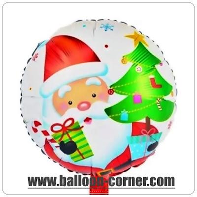 Balon Foil Bulat Santa Claus