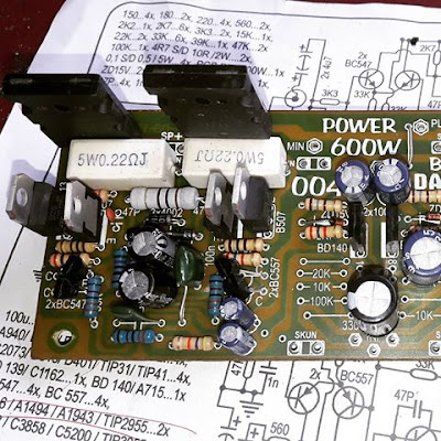 Assembled making power amplifier 600W