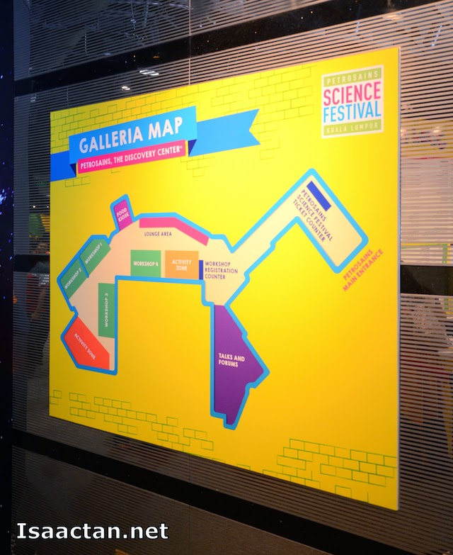 The Galleria Map at Petrosains, The Discovery Centre, Suria KLCC