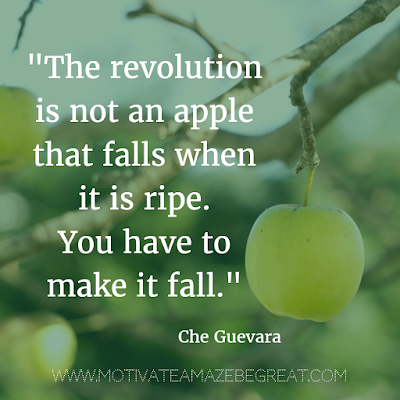 "40 Most Powerful Quotes and Famous Sayings In History: ""The revolution is not an apple that falls when it is ripe. You have to make it fall."" - Che Guevara"