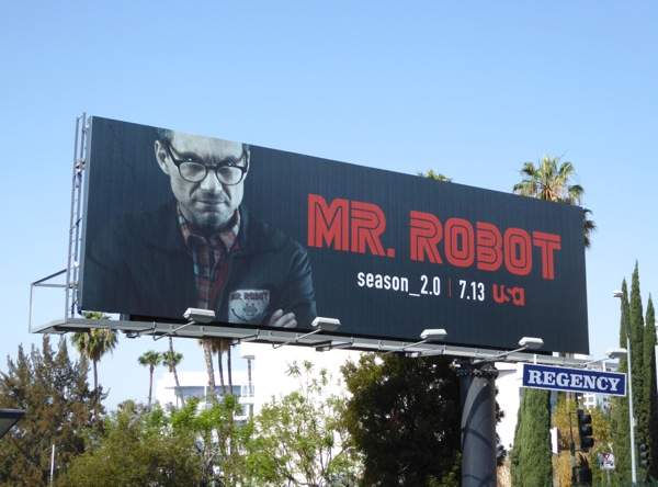 Mr Robot season 2 Christian Slater billboard
