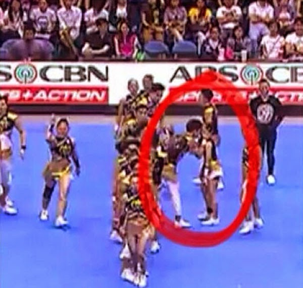 UST Cheerdancers Kiss, Show Some PDA During Contest