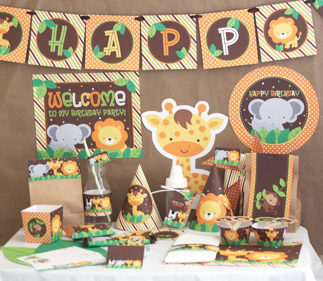 Stockberry Studio: Safari Animals Birthday DIY Printable