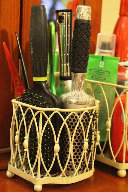 Hair Brush Storage Daylily Delilah Vanity Organization Tips Tricks