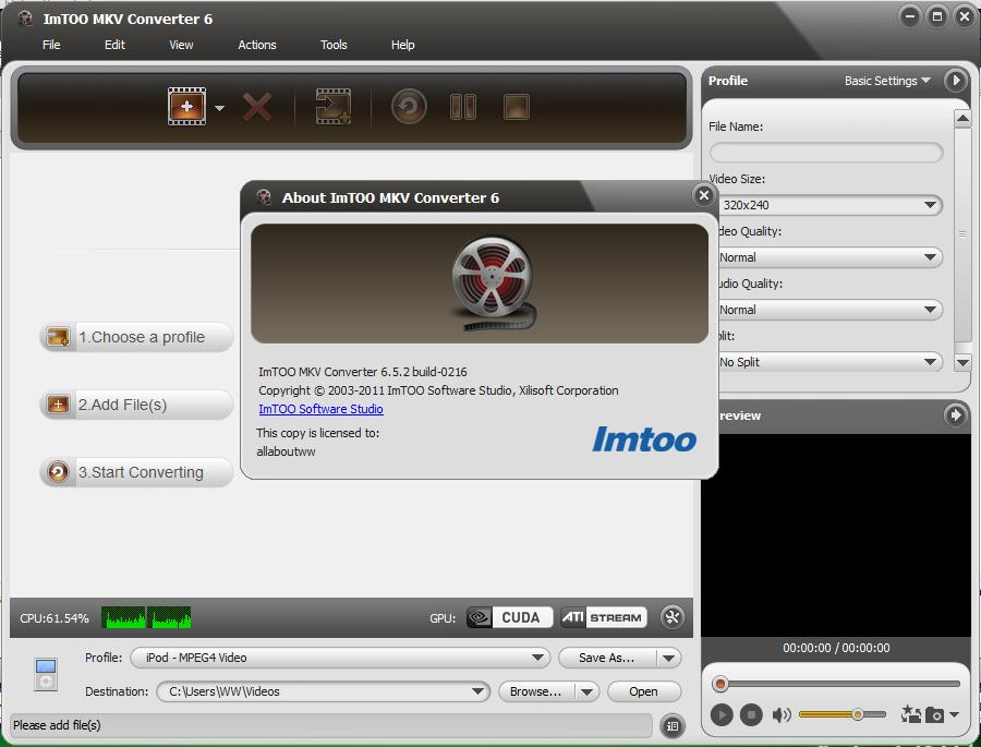 ImTOO MKV Converter 6.5.2.0216