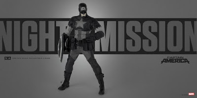Night Mission Captain America 1/6 Scale Collectible Figure by Ashley Wood x Marvel x ThreeA
