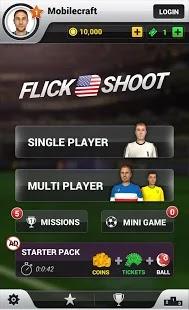 تحميل Flick Shoot UK مهكرة كوينز لا نهائية