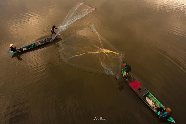 Fishing in Mekong delta