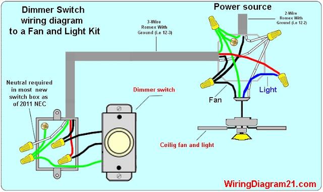 Ceiling Fan Wiring Diagram Light Switch