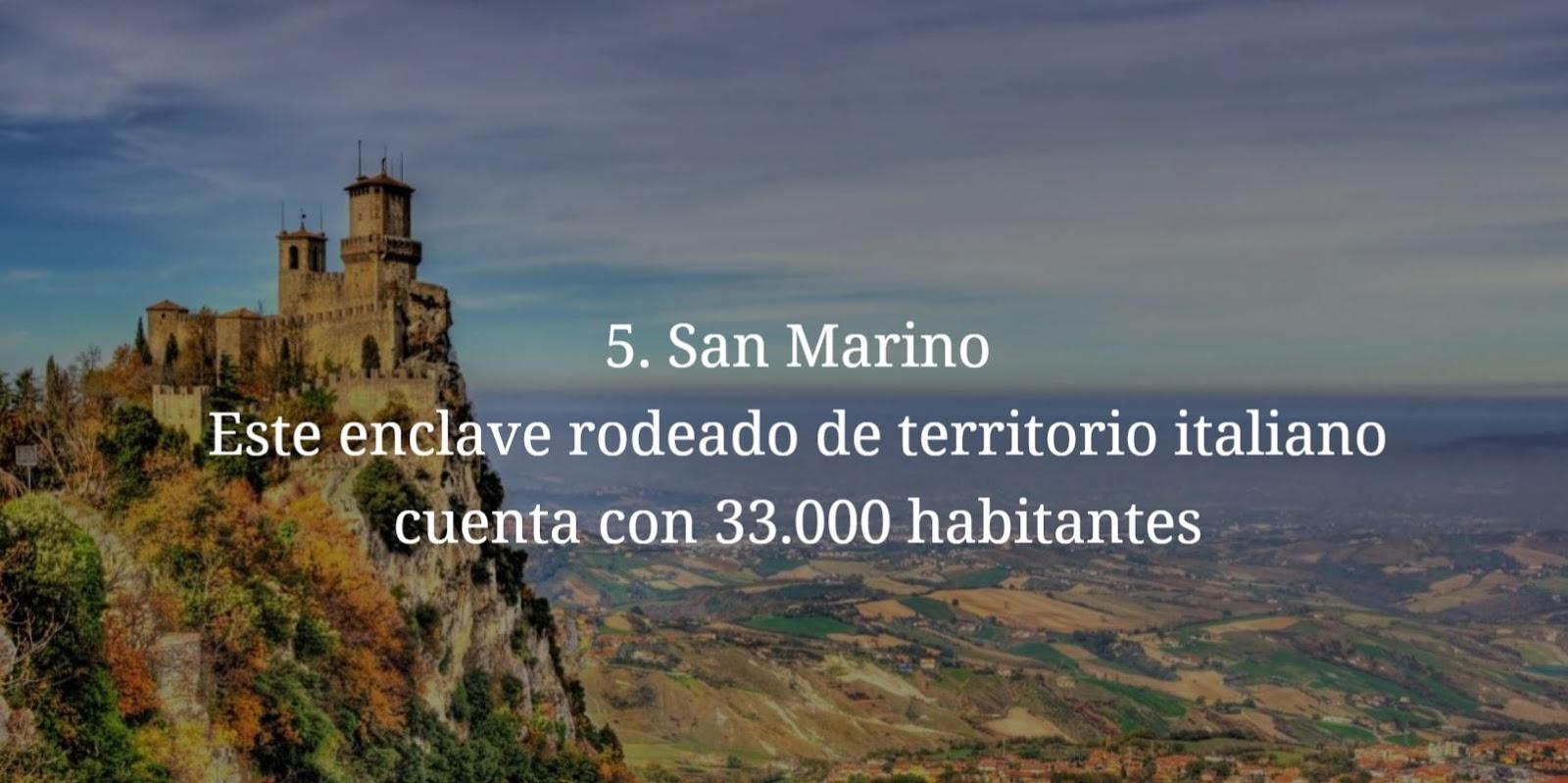 San Marino, paises mas pequeños y menos habitados del mundo